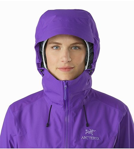 Beta SL Hybrid Jacket Women's Mauveine Hood Front View