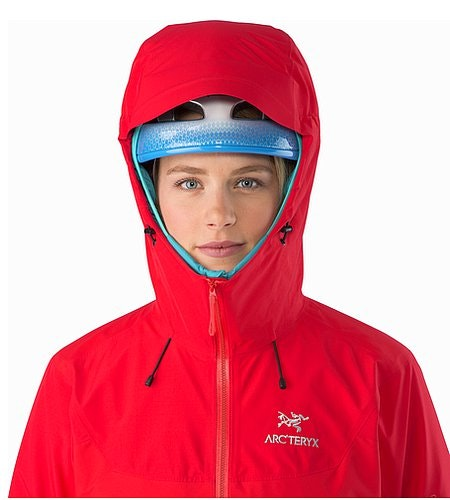 Beta SL Hybrid Jacket Women's Rad Helmet Compatible Hood Front View