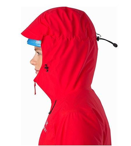 Beta SL Hybrid Jacket Women's Rad Helmet Compatible Hood Side View