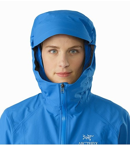 Beta SL Jacket Women's Macaw Hood Front View