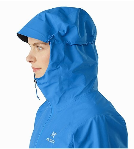 Beta SL Jacket Women's Macaw Hood Side View