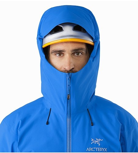 Beta SV Jacket Rigel Helmet Compatible Hood Front View