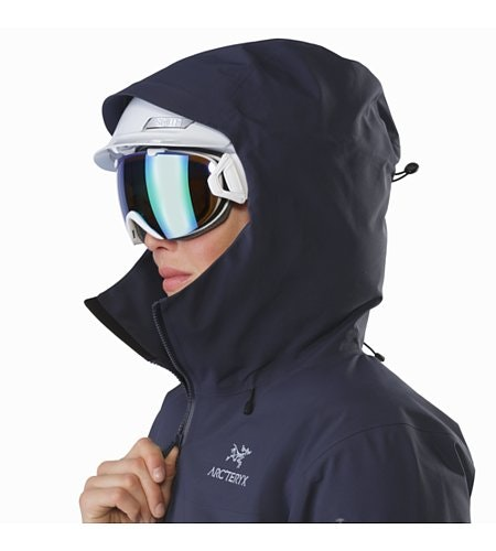 Beta SV Jacket Women's Black Sapphire Helmet Compatible Hood