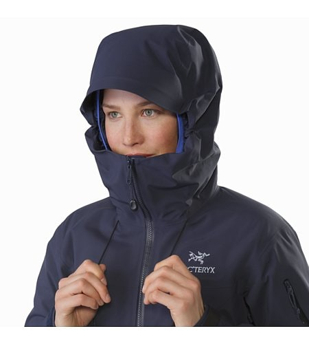 Beta SV Jacket Women's Black Sapphire Hood Up