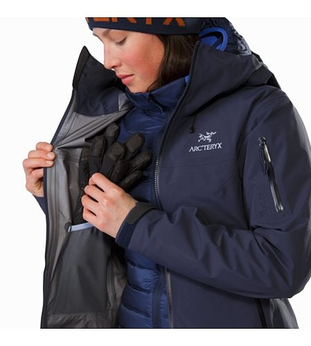 Beta SV Jacket Women's Black Sapphire Internal Dump Pocket