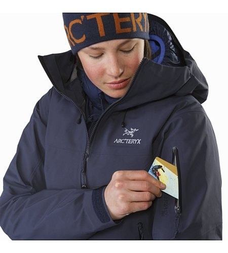 Beta SV Jacket Women's Black Sapphire Sleeve Pocket