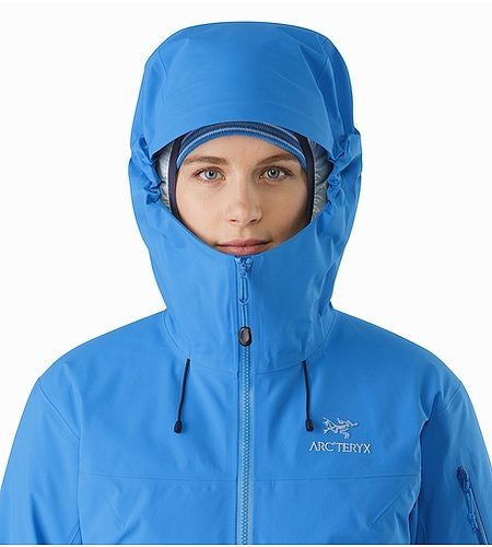Beta SV Jacket Women's Cedros Blue Hood Front View 2