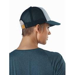 Bird Trucker Hat Astral Labyrinth Delos Grey Back View