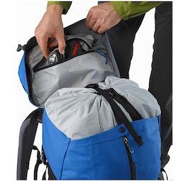 Bora AR 50 Backpack Borneo Blue Internal Lid Pocket