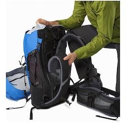 Bora AR 50 Backpack Borneo BlueGridLock Shoulder Straps and RotoGlide Hipbelt
