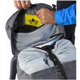 Bora AR 63 Backpack Titanium Internal Lid Pocket
