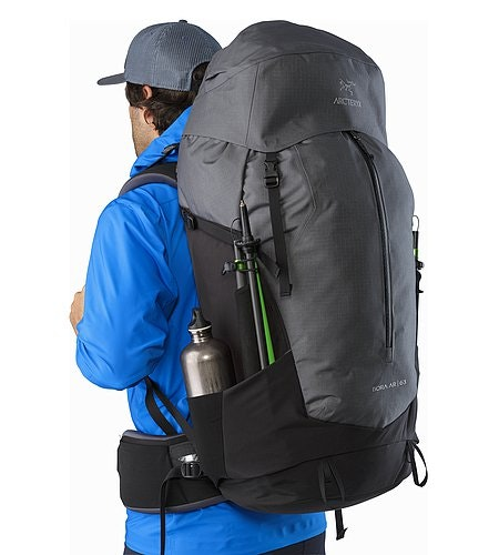 Bora AR 63 Backpack Titanium Side Pocket