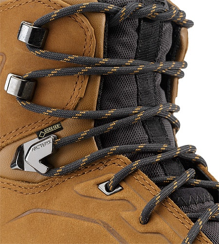 Bora Mid Leather GTX Hiking Boot Cedar Graphite Eyelet Reinforcements