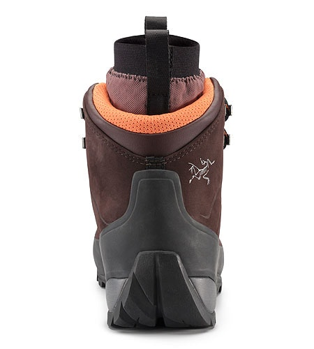 Bora Mid Leather GTX Hiking Boot Women's Redwood Andromedea Back View