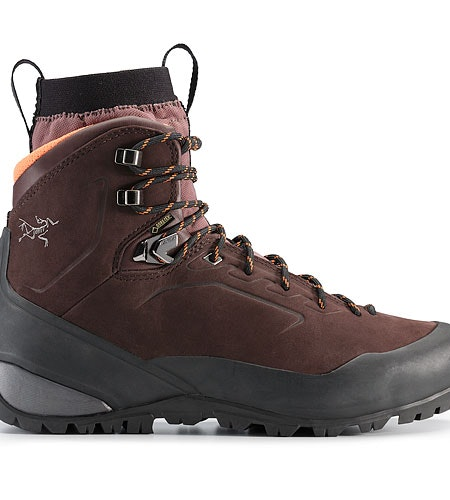 Bora Mid Leather GTX Hiking Boot Women's Redwood Andromedea Side View
