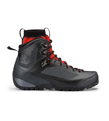 Bora2 Mid GTX Hiking Boot Black Cajun Side View
