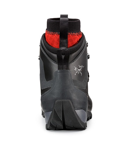 Bora2 Mid Hiking Boot Black Cajun Rear View