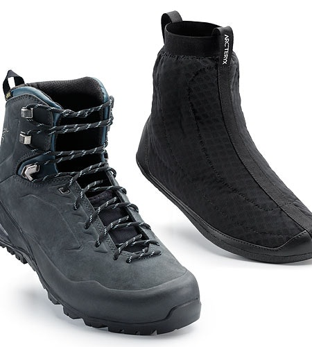 Bora2 Mid Leather Hiking Boot Grey Denim Black Boot and Liner