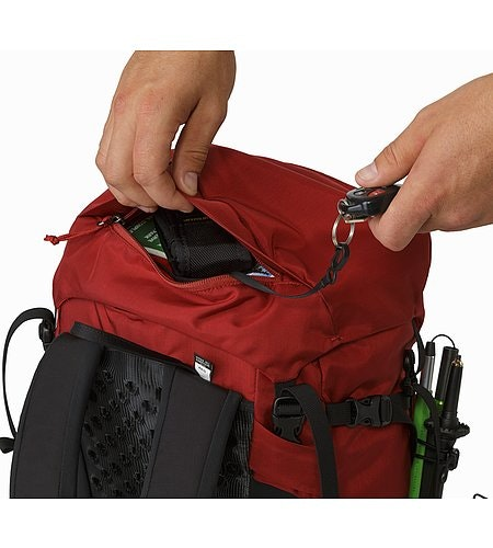 Brize 32 Backpack Red Beach Top Lid Pocket
