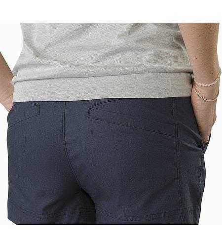 Camden Chino Short Women's Black Sapphire External Back Pockets