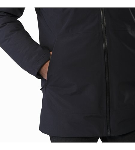 Camosun Parka Black Hand Pocket