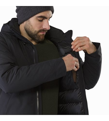 Camosun Parka Black Internal Security Pocket