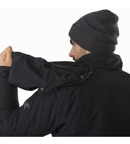 Camosun Parka Black Removable Hood