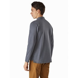 Captive Polo Shirt LS Cinder Back View