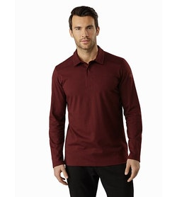 Captive Polo Shirt LS Flux Front View