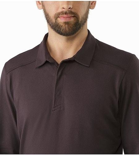 Captive Polo Shirt LS Katalox Open Collar
