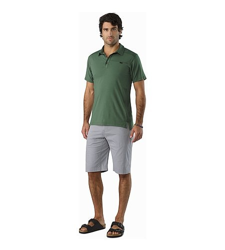 Captive Polo Shirt SS Cypress Front View