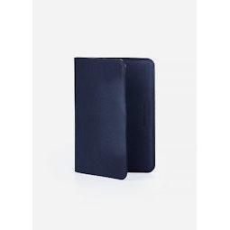Casing Passport Wallet Dark Navy Folded 2
