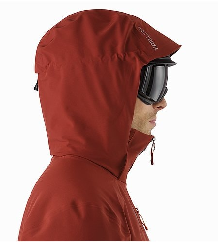 Cassiar Jacket Pompeii Helmet Compatible Hood Side View