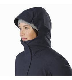 Centrale Parka Women's Kingfisher Hood Up