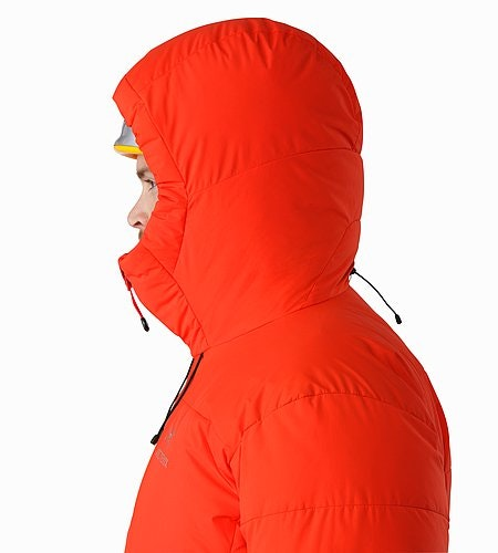 Ceres SV Parka Magma Helmet Compatible Hood Side View