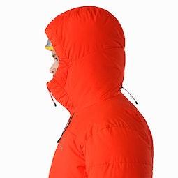 Ceres SV Parka Magma Helmet Compatible Hood Side View