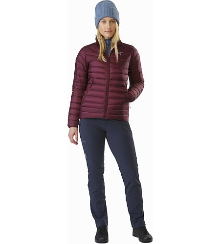 Cerium LT Jacket Women's Crimson Front View