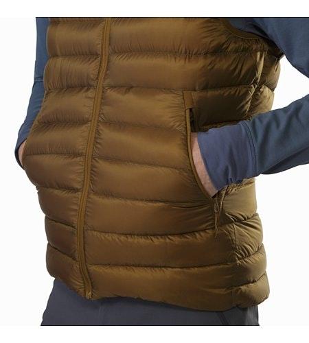 Cerium LT Vest Caribou Hand Pocket