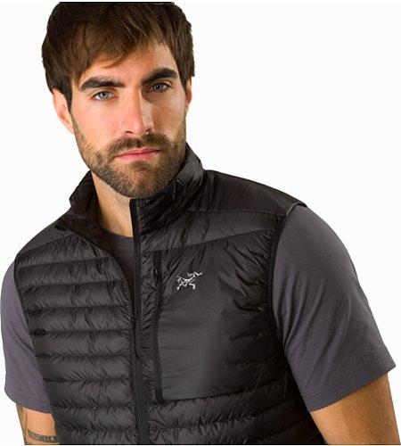 Cerium SL Vest Black Open Collar