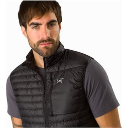 Cerium SL Vest Black Open Collar