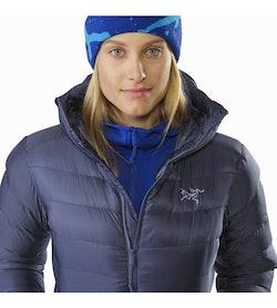 Manteau à capuchon Cerium SV Femme Nightshadow Détail du col