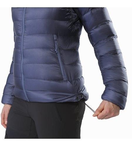 Manteau à capuchon Cerium SV Femme Nightshadow Cordon de serrage sur l'ourlet