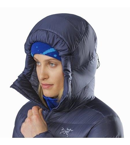 Manteau à capuchon Cerium SV Femme Nightshadow Capuchon relevé
