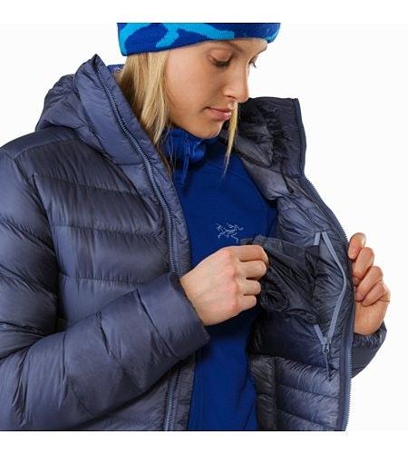 Manteau à capuchon Cerium SV Femme Nightshadow Poche de sécurité intérieure