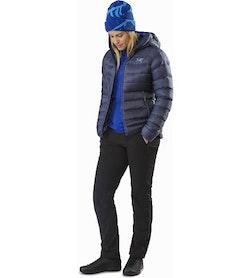 Manteau à capuchon Cerium SV Femme Nightshadow Ouvert