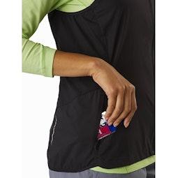 Cita Vest Women's Black Hand Pocket