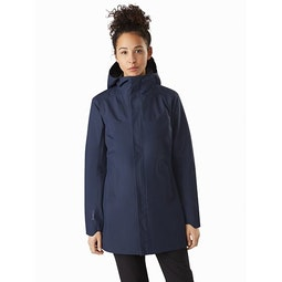 Codetta Coat Women's Cobalt Moon Front View