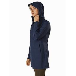 Codetta Coat Women's Cobalt Moon Hood Up