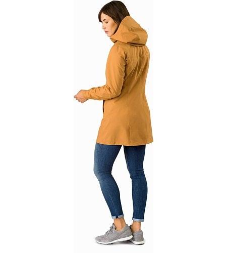 Codetta Coat Women's Ginger Root Back View