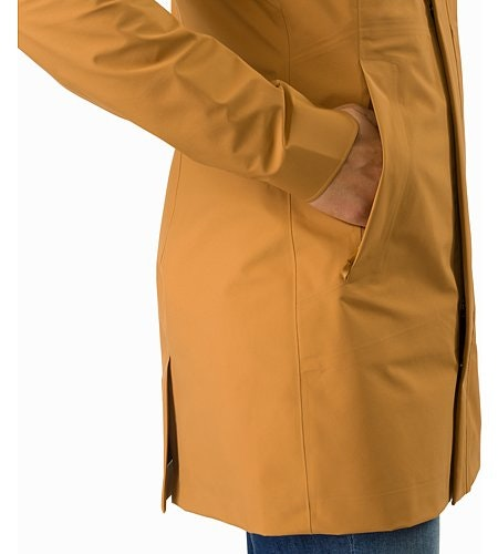 Codetta Coat Women's Ginger Root Hand Pocket